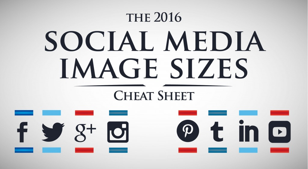 Social Media Images Cheatsheet 2016 Edition